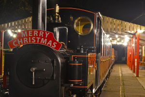A nostalgic steam train ride to get to where the magic happens is all part of the fun!